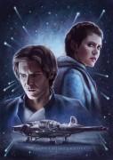 Han and Leia on Hoth