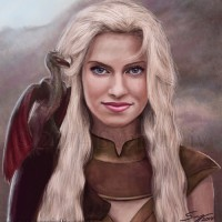 Barbara Dunkelman from Rooster Teeth as Daenerys Targaryen from Game of Thrones, because I can. Digital work | 2014.