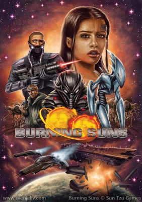 "Promo poster for the game ""Burning Suns"" from Sun Tzu Games."