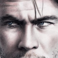 Pencil portrait of Chris Hemsworth, aka Thor, aka The Huntsman, and so on. Graphite and coloured pencils | A3 | 2013