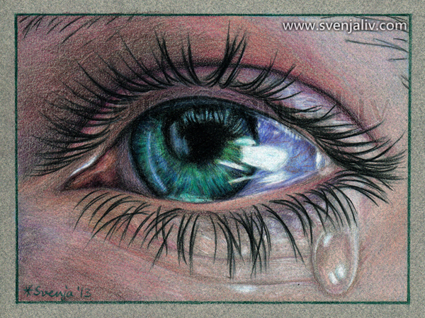Pencil Drawn Crying Eyes Pencil Drawings of Crying Eyes