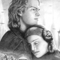 Private commission showing Anakin and Padmé from Revenge of the Sith. Graphite on Bristol paper | A4 | 2013.