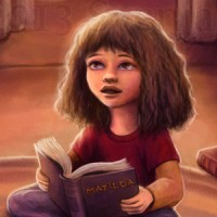 A young Hermione Granger reading
