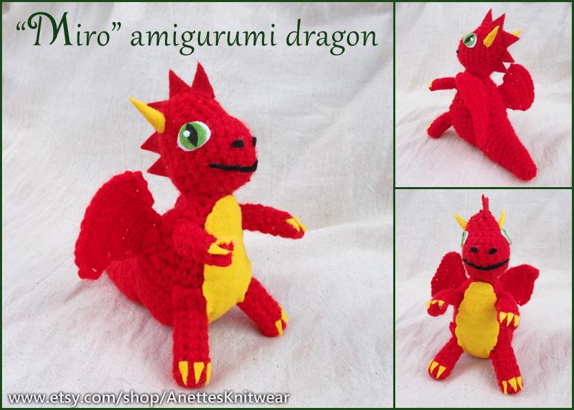 "Miro"" amigurumi crochet dragon – Svenja Gosen art and illustration"