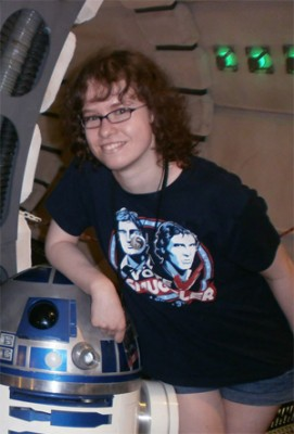Here I am, on the Millennium Falcon with Artoo-Detoo, at Celebration Europe 2013.