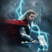 The Norse god of thunder as imagined by Marvel and brought to life by Chris Hemsworth. Digital work | 2013.