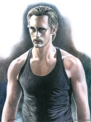 Eric Northman from True Blood. Colouring pencils on Bristol paper | A3 | 2012.