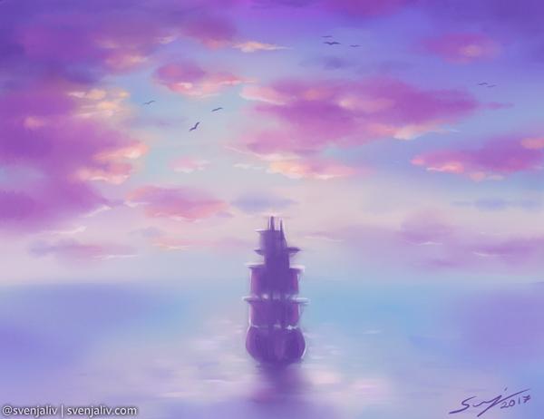 far across the sea