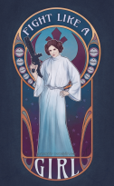 fight like a girl - leia