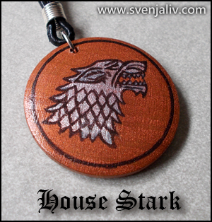 The sigil of the Stark family from Game of Thrones.