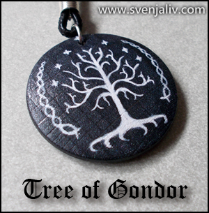 Another pendant with the White Tree of Gondor, smaller this time!