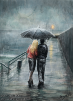 walk in the rain